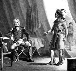 Jackson and Weatheford in the aftermath of the Creek War