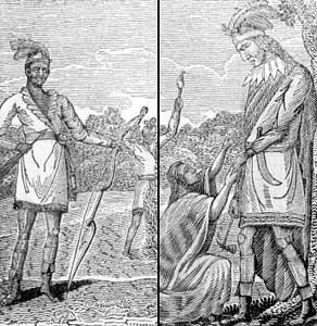 Black Seminole and a Seminole Indian