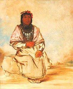 Seminole woman by George Catlin