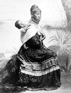 Seminole woman and child, circa 1905