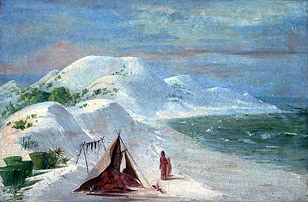 White Bluffs of Pensacola, by George Catlin
