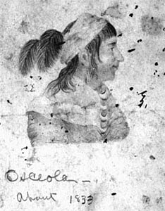 Sketch of Osceola by Harriet Weedon