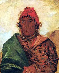 Painting of King Phillip by George Catlin