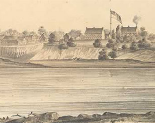 View of Fort Smith, Indian Territory, 1853