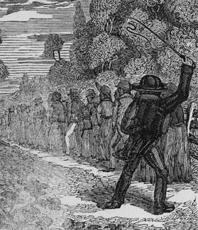 1834 engraving of a slave plantation