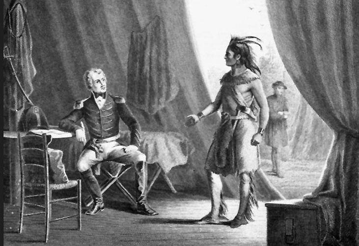 Chief Weatherford in General Jackson's tent