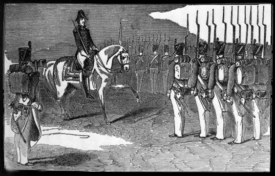 Jackson reviews troops in the First Seminole War