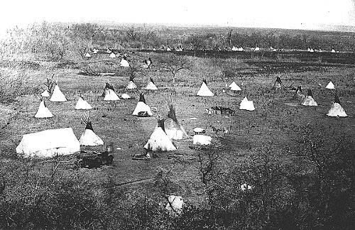 A Comanche Village in the Indian Territory