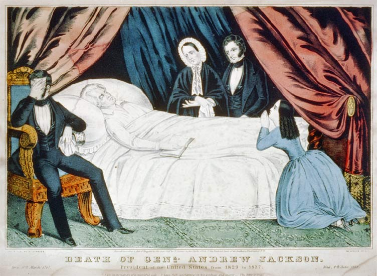 The Death of Andrew Jackson, by Currier and Ives