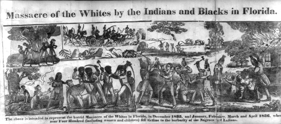 Massacre of the Whites by Indians and Blacks, 1836
