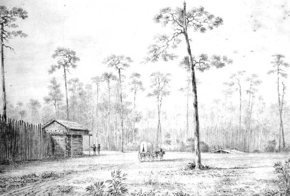 Sketch of Fort Harlee, 1837