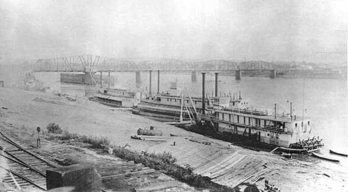 Port of Little Rock, Arkansas, 1850