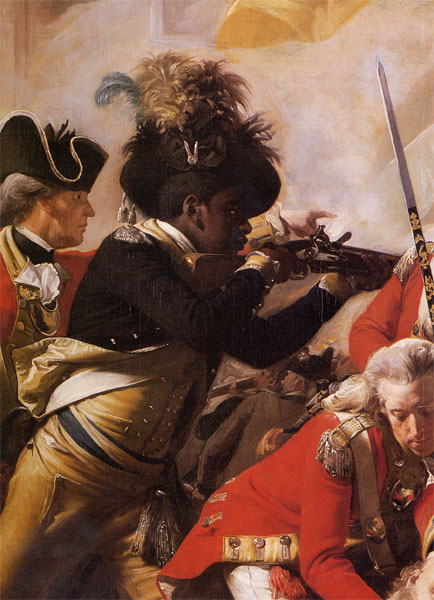 Detail from The Death of Major Pierson, by Copley
