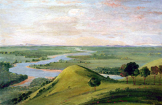 Junction of the Red River and the False Washita by Catlin