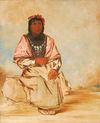 A Seminole woman by Catlin