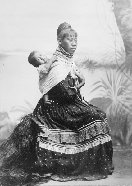 Seminole woman with child