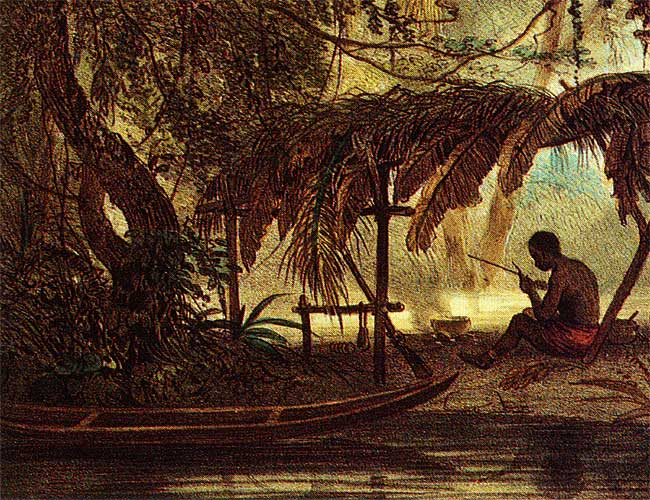 Maroon in the swamps of Surinam, 1839