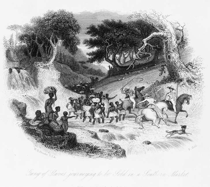 Slaves driven to a southern market, 1842