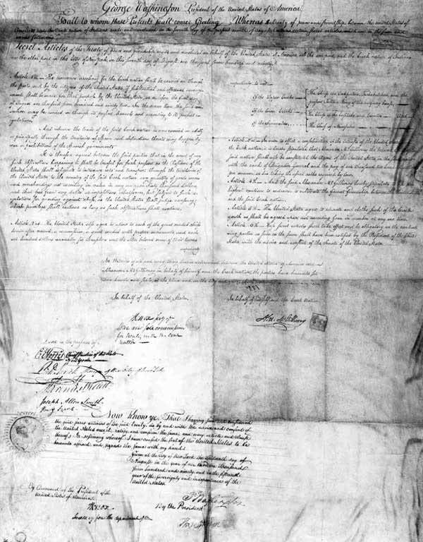 Secret articles from the Treaty of New York, 1790
